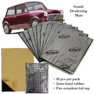 Sound Deadening Proofing Mat 10pcs Butyl Car Van Vibration Damping Audio Panel