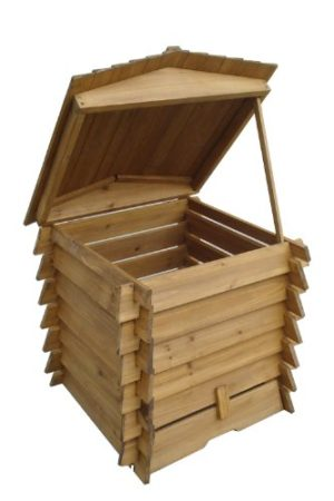 Easipet Wooden Compost Bin 328L in BeeHive Style 337