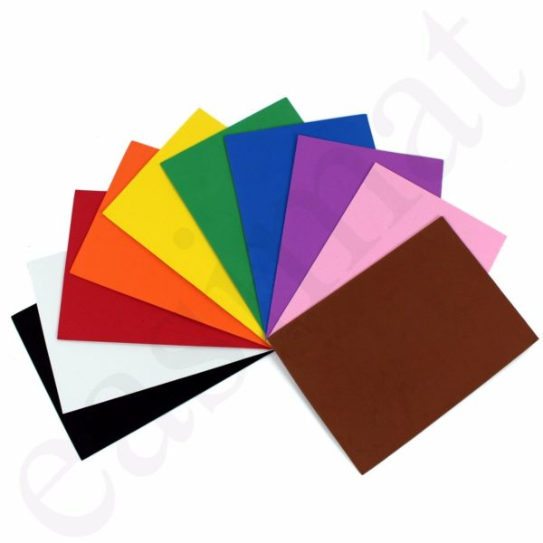 A4 EVA Foam Craft Sheets Assorted Colours Black White Kids Arts Project DIY 2mm