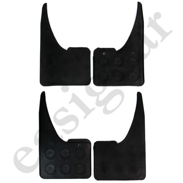 Universal Rubber Car Mudflaps Black 4pcs Heavy Duty Front & Rear Mud Flaps