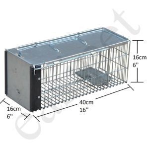 Rat Trap Squirrel Heavy Duty Metal Humane Live Bait Vermin Rodent Cage Catcher