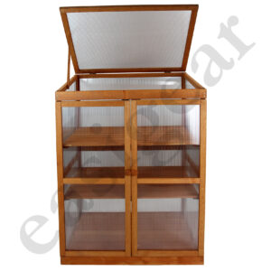 Wooden Cold Frame with 3 shelves
