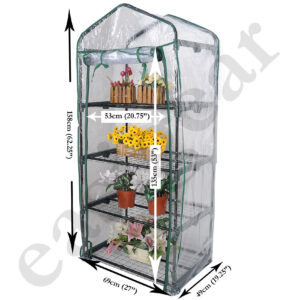 4 Tier Mini Outdoor Greenhouse with PVC or PE Cover
